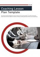 Bi Fold Coaching Lesson Plan Document Report PDF PPT Template