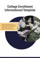 Bi Fold College Enrollment Informational Document Report PDF PPT Template