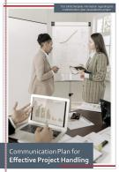 Bi Fold Communication Plan For Effective Project Handling Document Report PDF PPT Template