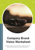 Bi Fold Company Brand Vision Worksheet Document Report PDF PPT Template One Pager