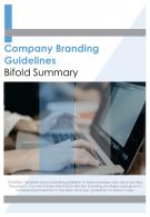 Bi Fold Company Branding Guidelines Summary Document Report PDF PPT Template
