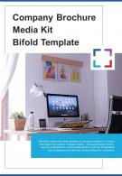 Bi Fold Company Brochure Media Kit Template Document Report PDF PPT One Pager