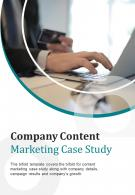 Bi Fold Company Content Marketing Case Study Document Report PDF PPT Template One Pager