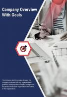 Bi Fold Company Overview With Goals Document Report PDF PPT Template