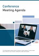 Bi Fold Conference Meeting Agenda Document Report Pdf Ppt Template One Pager