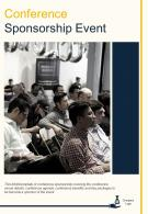 Bi Fold Conference Sponsorship Event Document Report PDF PPT Template