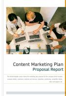 Bi Fold Content Marketing Plan Proposal Document Report Pdf Ppt Template One Pager