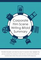 Bi Fold Corporate Film Scene Writing Summary Document Report PDF PPT Template One Pager