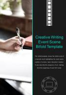Bi Fold Creative Writing Event Scene Template Document Report PDF PPT One Pager
