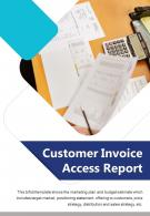 Bi Fold Customer Invoice Access Report Document PDF PPT Template One Pager