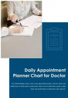 Bi Fold Daily Appointment Planner Chart For Doctor Document Report PDF PPT Template One Pager