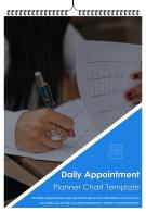 Bi Fold Daily Appointment Planner Chart Template Document Report PDF PPT One Pager