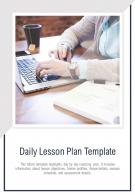 Bi Fold Daily Lesson Plan Document Report PDF PPT Template