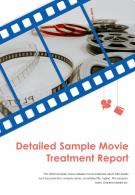 Bi Fold Detailed Sample Movie Treatment Report Document PDF PPT Template One Pager