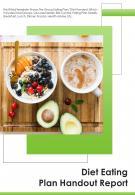Bi Fold Diet Eating Plan Handout Document Report PDF PPT Template