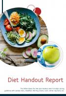 Bi Fold Diet Handout Document Report PDF PPT Template