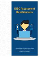 Bi Fold Disc Assessment Questionnaire Document Report PDF PPT Template One Pager