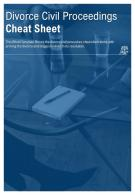Bi Fold Divorce Civil Proceedings Cheat Sheet Document Report PDF PPT Template
