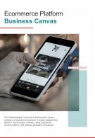 Bi Fold Ecommerce Platform Business Canvas Document Report PDF PPT Template