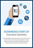 Bi Fold Ecommerce Start Up Executive Summary Document Report PDF PPT Template