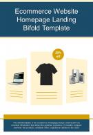 Bi Fold Ecommerce Website Homepage Landing Template Document Report PDF PPT One Pager