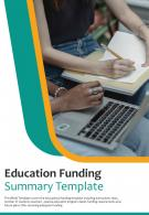 Bi Fold Education Funding Summary Document Report PDF PPT Template