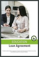 Bi Fold Education Loan Agreement Document Report PDF PPT Template
