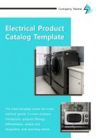 Bi Fold Electrical Product Catalog Document Report PDF PPT Template