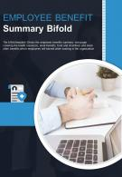 Bi Fold Employee Benefit Summary Document Report PDF PPT Template