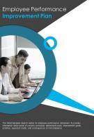 Bi Fold Employee Performance Improvement Plan Document Report PDF PPT Template