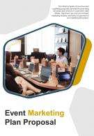 Bi Fold Event Marketing Plan Proposal Document Report PDF PPT Template One Pager