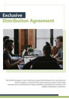 Bi Fold Exclusive Distribution Agreement Document Report PDF PPT Template