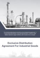 Bi Fold Exclusive Distribution Agreement For Industrial Goods Document Report PDF PPT Template