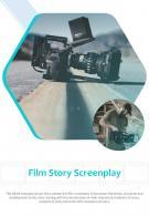 Bi Fold Film Story Screenplay Document Report PDF PPT Template