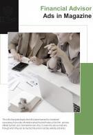 Bi Fold Financial Advisor Ads In Magazine Document Report PDF PPT Template