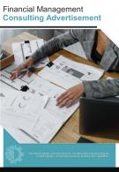 Bi Fold Financial Management Consulting Advertisement Document Report PDF PPT Template