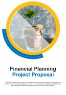 Bi Fold Financial Planning Project Proposal Document Report PDF PPT Template