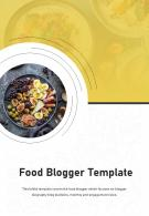 Bi Fold Food Blogger Template Document Report PDF PPT One Pager