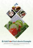 Bi Fold Food Fact Sheet Document Report PDF PPT Template