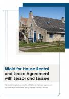 Bi Fold For House Rental And Lease Agreement With Lessor And Lessee PDF PPT Template One Pager