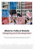 Bi Fold For Political Website Designing And Development Document Report PDF PPT Template One Pager