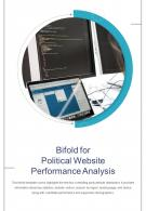 Bi Fold For Political Website Performance Analysis Document Report PDF PPT Template One Pager