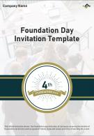 Bi Fold Foundation Day Invitation Template Document Report PDF PPT Template