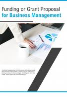Bi Fold Funding Or Grant Proposal For Business Management Document Report PDF PPT Template