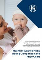 Bi Fold Health Insurance Plans Rating Comparison And Price Chart Document Report PDF PPT Template