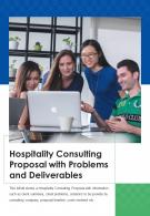 Bi Fold Hospitality Consulting Proposal With Problems And Deliverables PDF PPT Template One Pager
