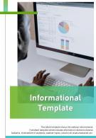 Bi Fold Informational Document Report PDF PPT Template
