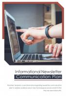 Bi Fold Informational Newsletter Communication Plan Document PDF PPT Template One Pager
