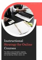 Bi Fold Instructional Strategy For Online Courses Document Report PDF PPT Template One Pager