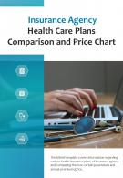 Bi Fold Insurance Agency Health Care Plans Comparison And Price Chart PDF PPT Template One Pager